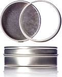 Lash Tin 2 oz Flat Tin with Clear Slip Cover Lid Included