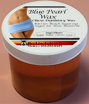 Barrier Beach Sugaring Pure Gold Sugar for Hair Removal 32oz ~ Blue Pearl Wax
