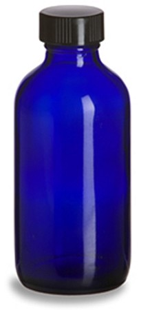 4oz Cobalt Blue Glass Oil Bottle