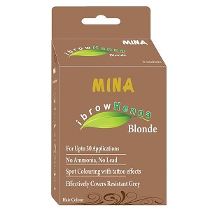 Eyebrow Blonde Henna Tinting Kit ~ Mina iBrow Henna